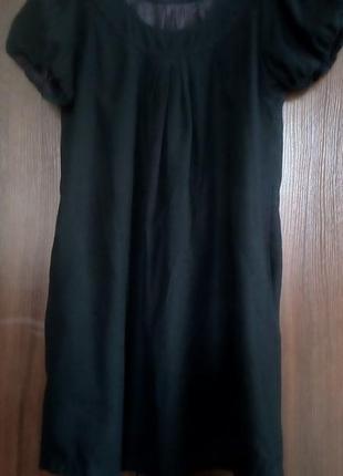 Черное платье-фонарик