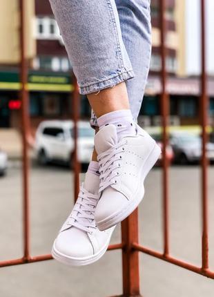 Adidas stan smith white женские кроссовки адидас стен смит