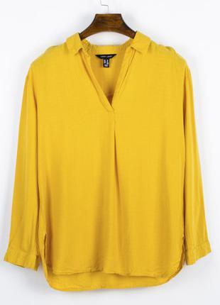 Горчичная рубашка женская, весенняя рубашка желтая, горчичная ...