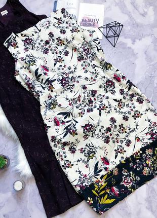 Натуральное платье футляр в цветы