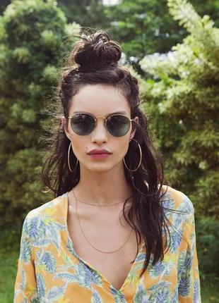 Очки в стиле ray ban round ,стильные,тренд,солнцезащитные очки...