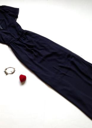 Темно-синее платье макси asos