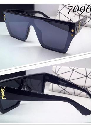 Солнцезащитные очки-маска оверсайз черные