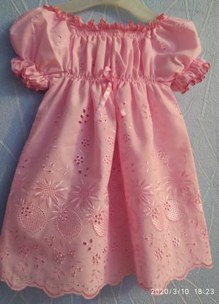 Платье нарядное летнее на девочку на рост 74 см
