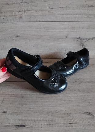 Туфли балетки кларкс clarks с мигалками 30р 20 см лаковая кожа