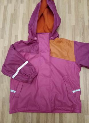 Термо -курточка  на флисе  на ребенка 3-5 лет