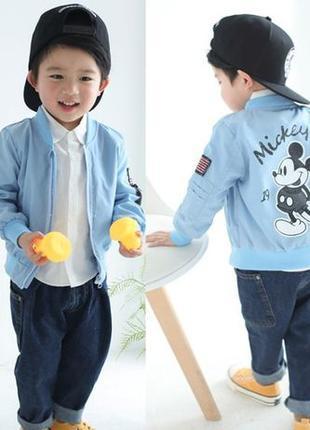 Детская куртка ветровка Микки Маус для/на мальчика/мальчиков,к...