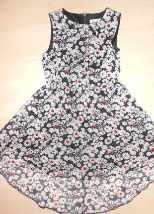 Красивое платье в ромашки на 6-7 лет.
