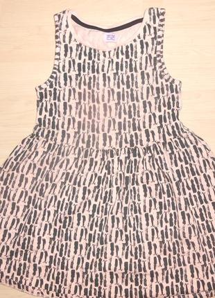Летнее платье на 6-7 лет.