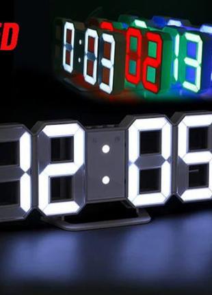 Часы Электронные настольные LED с будильником и термометром