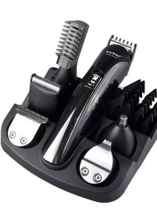 Триммер Kemei 11в1 для стрижки волос бритья бороды электробритва
