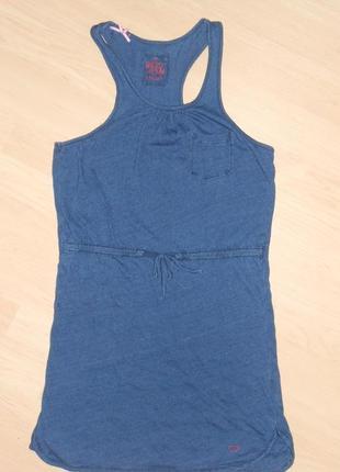 Стильное платье - майка на 8- 10 лет.