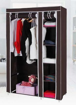 Шкаф тканевый складной каркасный STORAGE для одежды обуви 2 и ...