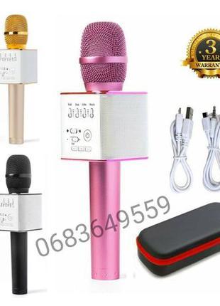 Портативный микрофон караоке колонка Bluetooth беспроводной Q9...