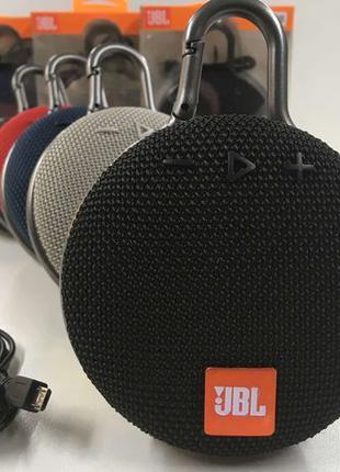 Портативная колонка Bluetooth JBL CLIP 3 беспроводная FM радио...