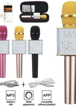 Беспроводной караоке микрофон Bluetooth портативный микрофон Q...