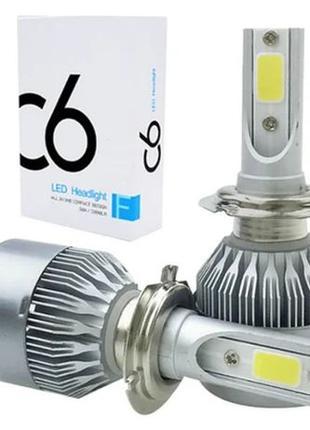Автомобильные лампы светодиодные LED лампы H4 H7 лед автолампы...