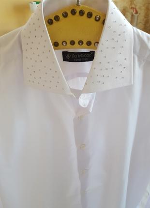 Эксклюзивная белая рубашка daniel rosso