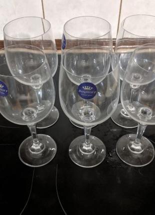 Набор бокалов для вина 375 мл berghoff crystal glass 6 шт высо...