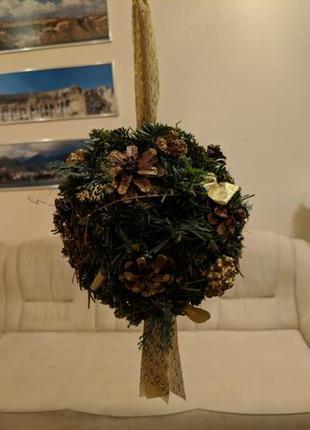 Новогодний/рождественский шар/шарик из искусственной елки/ели ...