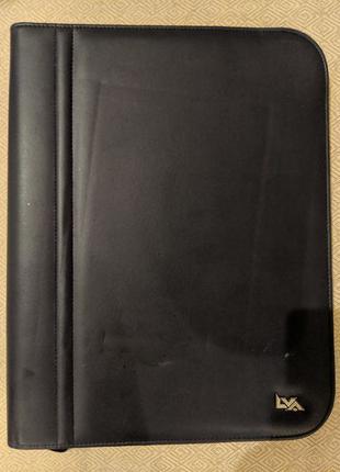 Папка для документов A4 LVA экокожа синяя 29/37/4,5 см внутри ...