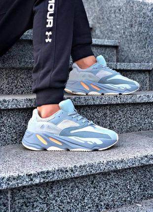 Adidas стильные мужские кроссовки адидас в синем цвете (весна-...