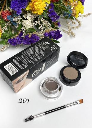 Помадка для бровей+тени+профессиональная кисть la rosa color m...