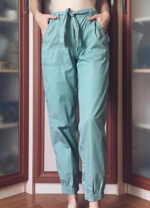 Женские брюки, штаны, брюки-карго зеленого, мятного,цвета хаки