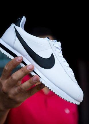 Nike cortez classic leather white мужские кроссовки найк корте...