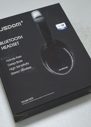 Беспроводные Bluetooth Наушники Ausdom M05 Black с aptX