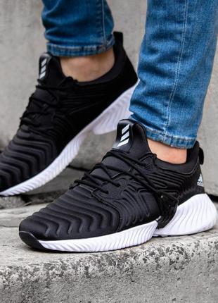 Adidas alphabounce instinct black мужские кроссовки адидас чёрные