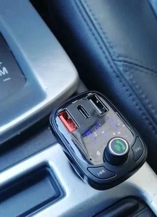 FM трансмиттер модулятор Baseus S-13 Bluetooth 5.0 зарядка S13
