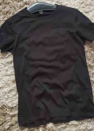 Стрейчевая черная футболка g-star raw