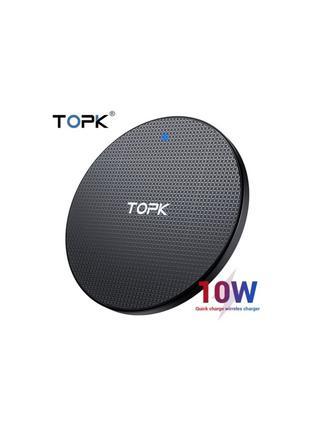 Беспроводная зарядка TOPK WIRELESS QI 10W B01W BLACK