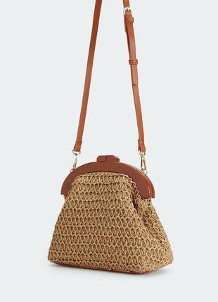 Parfois новая стильная модная плетеная женская сумка ридикюль ...