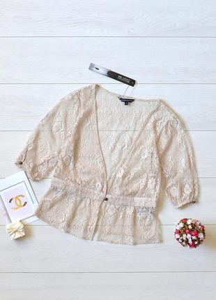 Ніжна ажурна блуза-накидка m&s