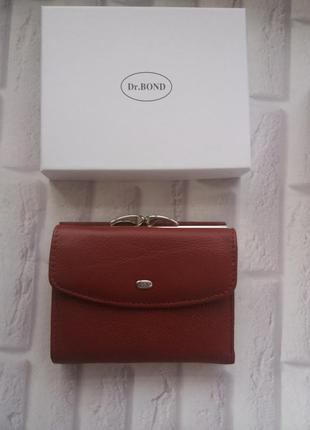 Небольшой кожаный кошелек женский жіночий шкіряний гаманець