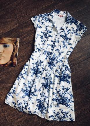 Очень красивое натуральное летнее платье большого размера