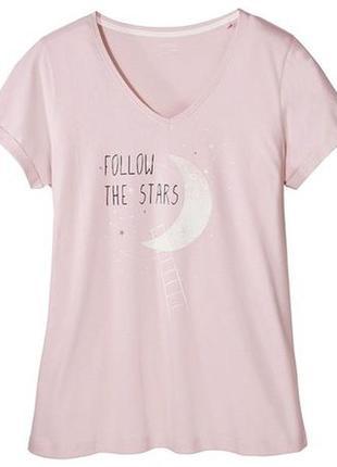 Пастельно розовая футболка хлопок м 40-42 esmara, германия