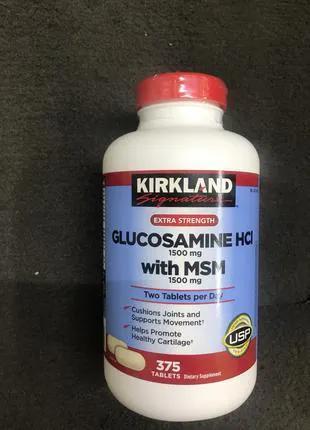 Глюкозамин глюкозамін МСМ Glucosamine MSM Kirkland США 375 шт.