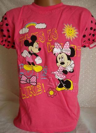 Sale футболка на девочку минни 3-6л