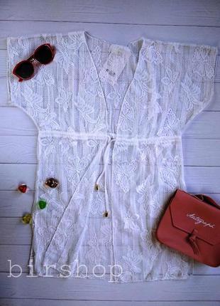 Элегантная ажурная пляжная туника для девочки