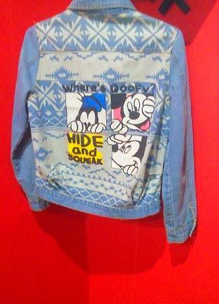Джинсовая куртка/пиджак с рисунком на спине