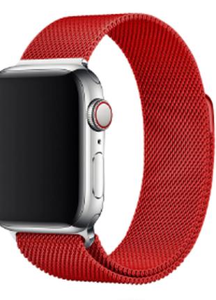 Ремешок миланская петля красный для часов apple watch 42/44 мм
