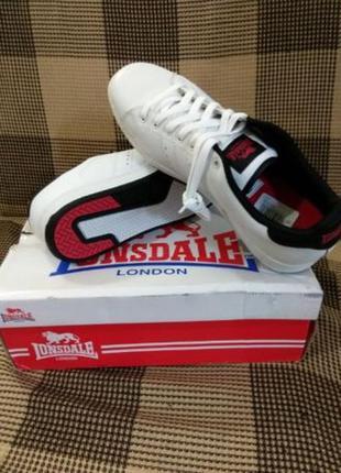 Кроссовки белые кожаные lonsdale, размер 45,46