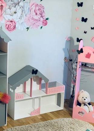 Стеллаж в детскую Домик-стеллаж для кукол книг Стеллаж-полка