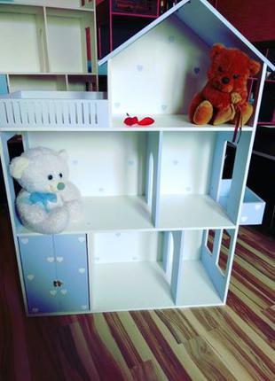 Кукольный домик для игрушек Домик шкаф Детская мебель полка