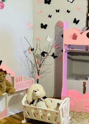 Детская вешалка Шкаф Напольная полка для игрушек и одежды ЭКО