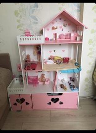 Кукольный домик с ящиком для Монстер Хай Барби Лол Винкс
