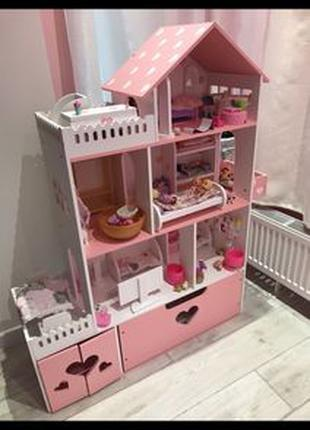 Кукольный домик для Барби Монстер хай Лол Дом для кукол Lol Ba...